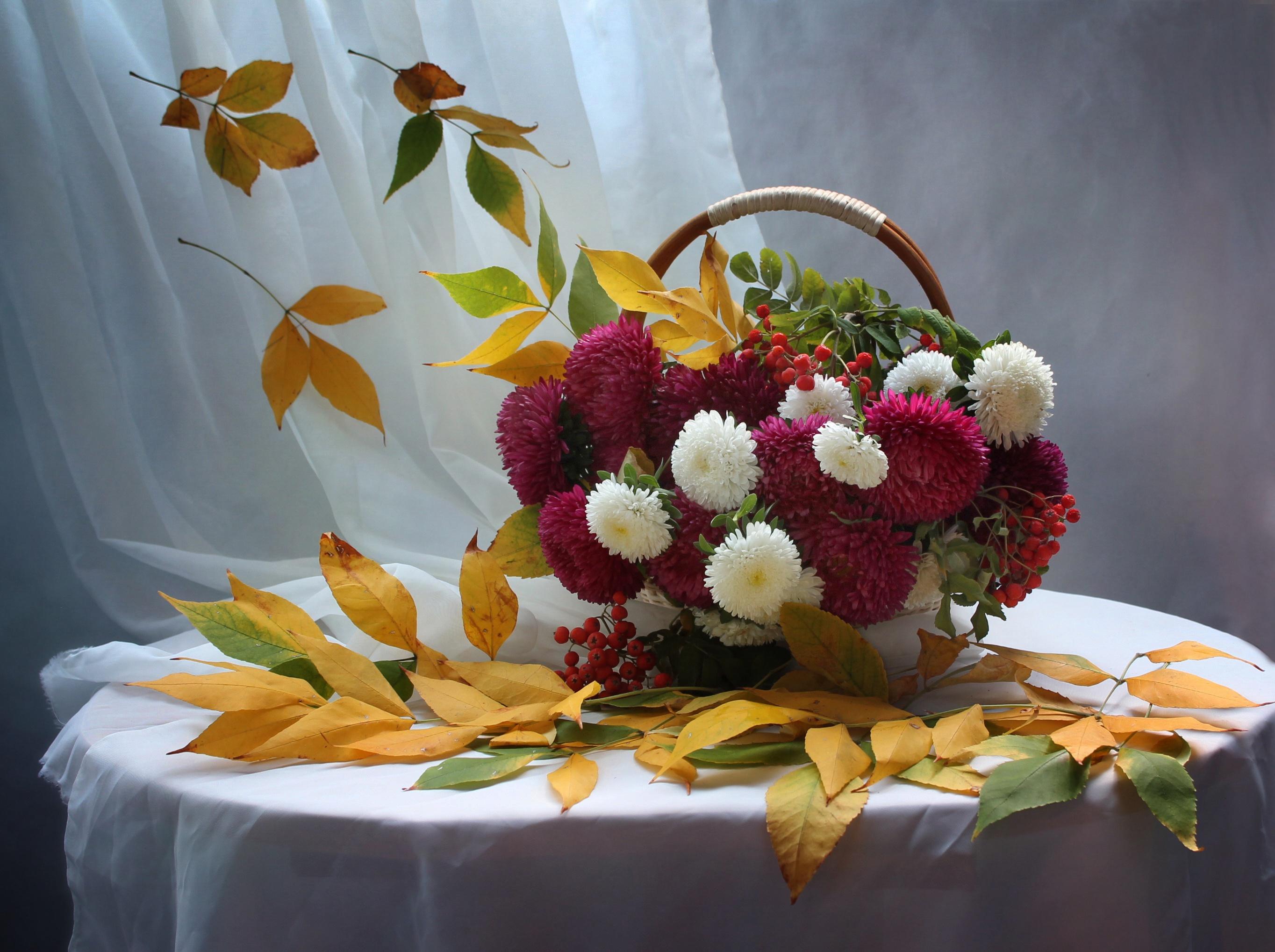 Днем рождения, открытки с осенними цветами с днем рождения женщине