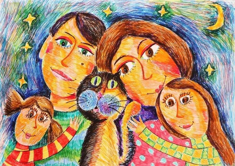 Конкурс рисунков моя семья
