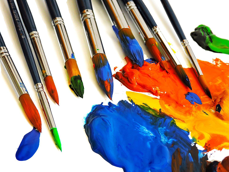 картинки с кистями и красками для художников своему