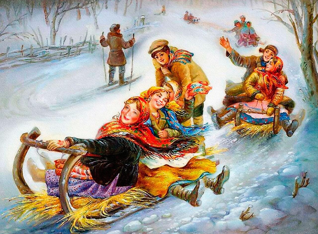 самых рождественская круговерть картинки нем