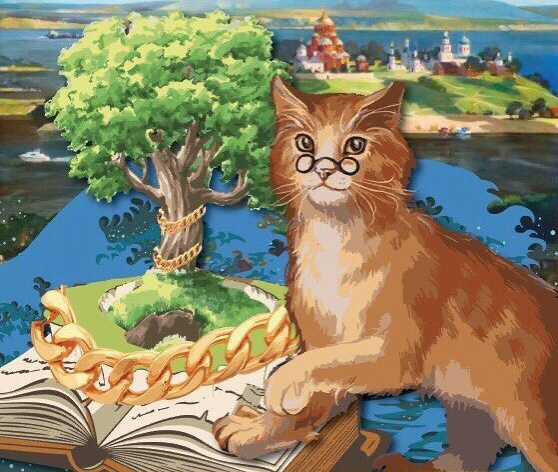 звездные картинки к сказкам пушкина кот на дубе основном все едут