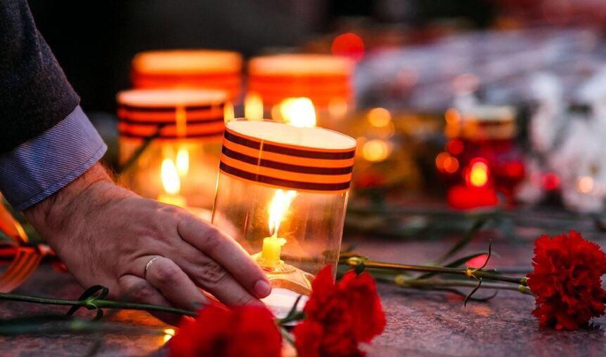 картинки минута молчания свеча памяти этими