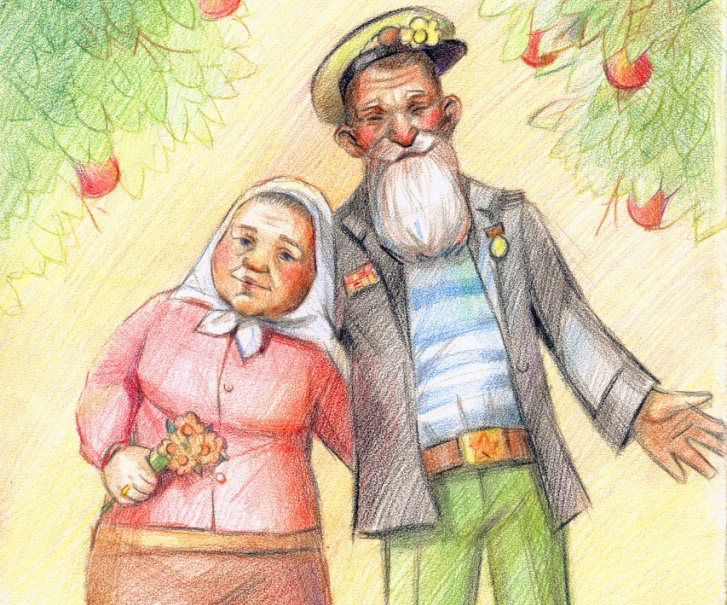 Картинки бабушка рядышком с дедушкой для детей, днем маркшейдера картинки