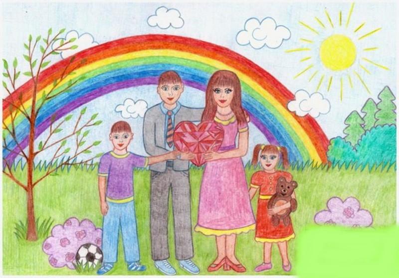 Картинки на тему дружная семья легкие