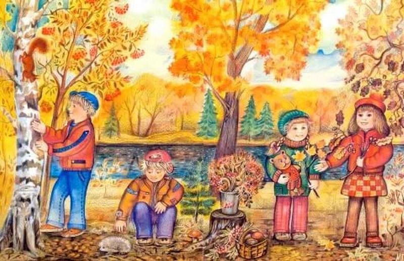 Детские картинки времена года осень
