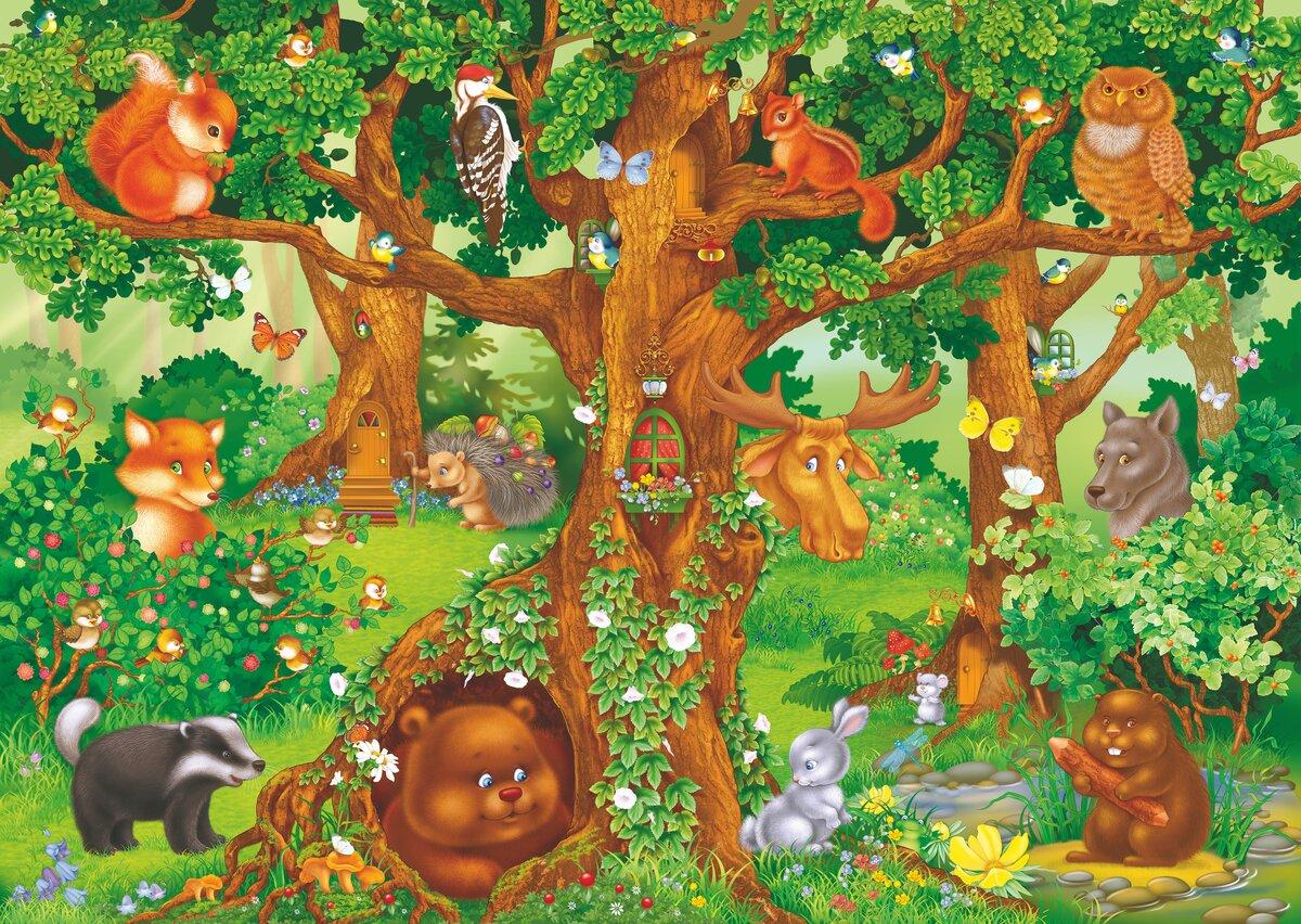 Сюжетные картинки о деревьях